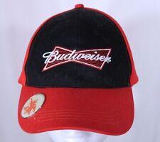 BUDWEISER® Brim Bottle Opener Beer Baseball Trucker Cap Hat Navy Blue Red