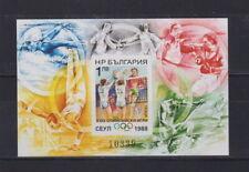 Bulgarien 1988 postfrisch MiNr. Block 180 B  Olympische Sommerspiele, Seoul