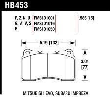 Hawk Performance HB453V.585 Designed For High Deceleration Rates Disc Brake Pads