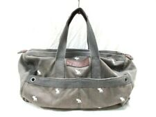 Auth Abercrombie&Fitch Gray Canvas Boston Bag
