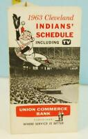 1963 Cleveland Indians Baseball Schedule & TV Union Commerce Bank