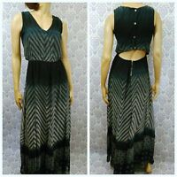 Jessica Simpson Maxi Dress Sundress Womens Size S Sleeveless Chevron Ombre