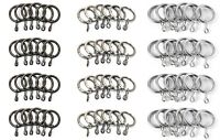 Integra 25mm Metal Curtain Pole Spare RINGS for 19mm Poles Packs of 24 New