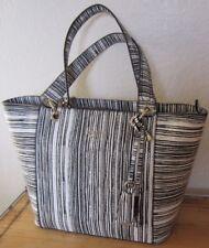 GUESS Marciano Black White Stripe KAMRYN Tote Bag Satchel Purse NWT