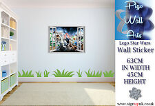Star Wars Wall Sticker Lego 3d Effect Children's bedroom decal mural wall art