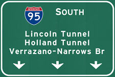 New Jersey Nyc Tunnels Bridges Metal Interstate Sign Art Steel not tin 36x24