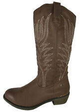 MTNG Mustang Womens 56143 Mid Calf Cowgirl BOOTS Taupe 40 EU / 8.5-9 US