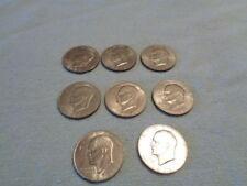 1971 1971-D 1972 1972-D lot of 8 EISENHOWER SILVER DOLLAR DOLLARS