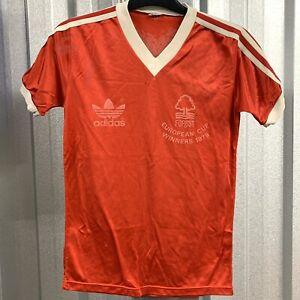 "Adidas Nottingham Forest 1979-81 European Cup Winners Shirt Size XS 33"" Chest"