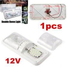 1x RV LED 12V Interior Ceiling Camper Trailer Truck Marine Double Dome Light