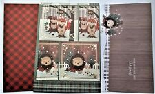 Kanban Woodland Christmas Animals Die Cut Foiled Toppers,Card, Insert Kit 54424