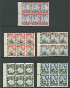 BERMUDA #109A, 118-121 MINT BOOKLET PANES