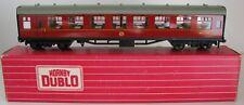 More details for hornby dublo oo gauge 2/3 rail 4063 br maroon open corridor 2nd coach m3716