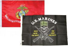 3x5 3'x5' Wholesale Combo Set USMC Marines EGA & Mess With The Best Flags Flag