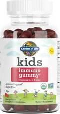Kids Organic Immune Gummies with Vitamin C D & Zinc, 60 count Cherry