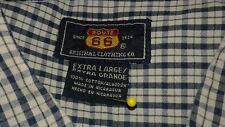 ROUTE 66  Long Sleeve NAVY BLUE PLAID Men's Shirt Size XL