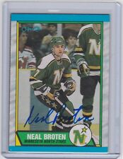 08-09 2008-09 O-PEE-CHEE NEAL BROTEN BUYBACK AUTOGRAPH AUTO BB-NB NORTH STARS