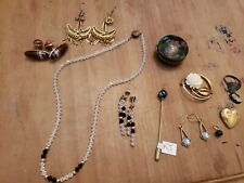 Victorian Small Lot Jewerly Earrings Enemal Box Locket GF BROOCH collection