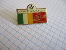 FLAG IRELAND PIN BADGE DRAPEAU IRLANDE FOOT 1990 COCA COLA VINTAGE PINS us2/3