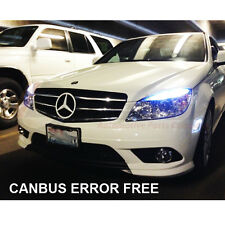MERCEDES C-CLASS W204 HID XENON  WHITE CREE LED SIDELIGHT x4 BULBS ERROR FREE