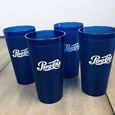 Retro Pepsi Cola Restaurant Blue Plastic Tumblers Cups 20oz Impact Interna