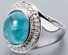 X520 Ring 925er Silber rhodiniert Paraiba-Apatit Saphir 5,34ct RW17