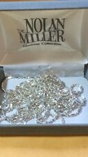 "Milor Italy Sterling Silver .925 Beaded Design Necklace 34 GRAMS - Length (100"")"