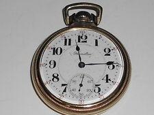 Vintage Gold Filled Hamilton Pocket Watch Open Face 992 (K31S)