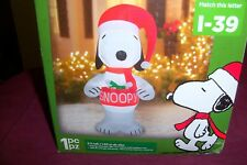 GEMMY PEANUTS SNOOPY 5 FT TALL  CHRISTMAS  INFLATABLE OUTDOOR YARD DECOR NIB