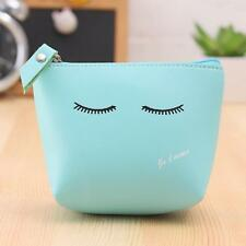 Fashion Women Girls Cute Coin Purse Wallet Bag Change Pouch Key Holder Blue New