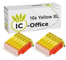 10x XL CLI 551 amarillo chip cartucho tinta canon Ip7250 Mg5450 Mg6450 Mx725