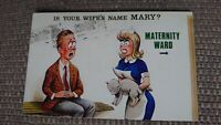 """""""Is Your Wife's Name Mary?"""" Fitzpatrick Bamforth Comic Series No. 2577 Postcard"""