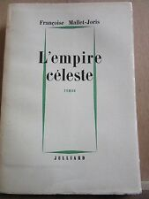 Françoise Mallet-Joris: L'Empire Céleste /Julliard, 1958. Service de Presse