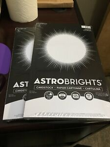 "2 PACKS OF 125 SHEETS - ASTROBRIGHTS Card stock, 8.5"" x 14"", Bright White"