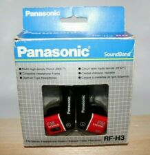 Vintage 1980's Panasonic RF-H3 FM Stereo Collapsible Headphones