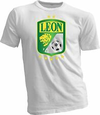 Club Leon F.C. Futbol Soccer Mexico Green T-SHIRT Camiseta New White