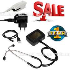 Multi-function electronic stethoscope+ ECG + spo2, PR estetoscopio+USB