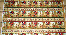 """Songs of the Season Cardinal Hummingbird Blue Jay Fabric Sampler  23"""" Repeat"""