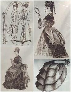 Victorian Travel Bustle, Bathing Suit, Petticoat, Polonaise Mantua Maker Pattern
