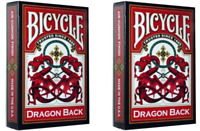 Two Decks of Bicycle Red Dragon Back Playing Cards - New Sealed - USPCC
