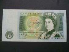 More details for 1978 j b page one pound note last series about uncirculated, duggleby ref: b340