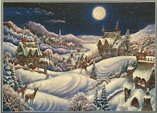 'MOONLIGHT CHRISTMAS'  1000-Piece Jigsaw Puzzle  **EXCELLENT CONDITION**