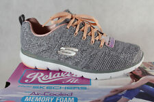 Skechers Ladies Slippers Sneakers Low Shoes Trainers Grey New