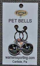 WARNER SMALL SILVER COLORED STEEL PET JINGLE BELLS FOR DOG / CAT COLLAR (2-BELLS