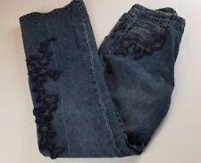 INC International Concepts Womens Jeans Sz 8 Embroidered Medium Wash Denim