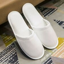 20 Pairs Disposable SPA Hotel Toe Towelling Terry Style Guest Slippers White