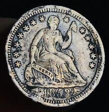 1853 O Seated Liberty Half Dime 5C Arrows High Grade Det US Silver Coin CC2786