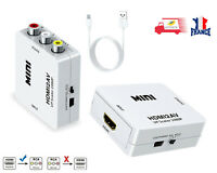 HDMI vers RCA Full HD Vidéo 1080P AV Convertisseur Adaptateur + câble USB