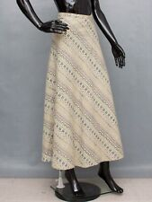 GUDRUN SJODEN Skirt Wrap Maxi Beige Pattern A-Line S/M