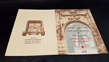 Carnet Croix Rouge 1970 signé par Maître Gandon